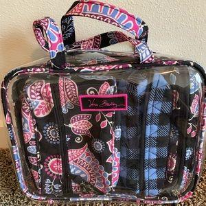 Vera Bradley four piece cosmetic bag set